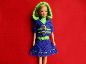 Как связать юбку для куклы барби своими рукими